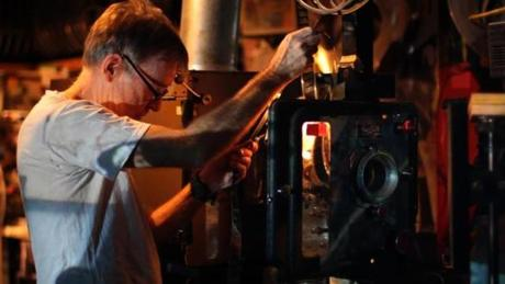 "Brattle Theatre projectionist Dave Leamon in ""The Dying of the Light."""